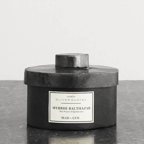 scented potpourri with lava stone myrrhe balthazar from mad et len