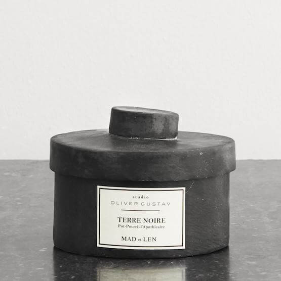 scented potpourri on lava stones terre noire from mad et len