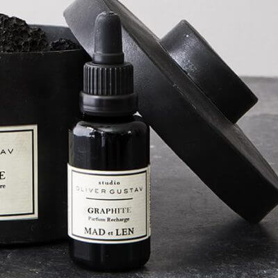 Graphite mad et len scented oil Studio Oliver Gustav