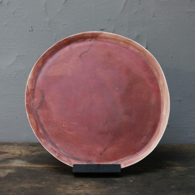 Unique ceramics plate italian stoneware