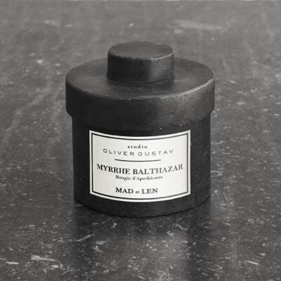 scented candle in iron jar myrrhe balthazar by mad et len