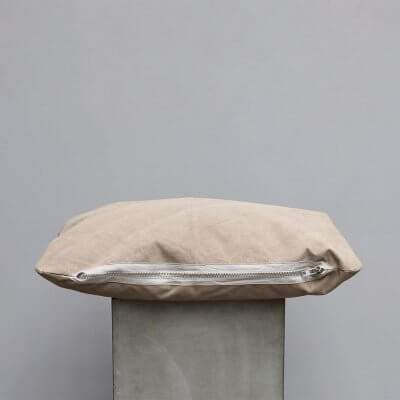 Limited edition high-quality Beige Suede Cushion - Small from Journey by Oliver Gustav