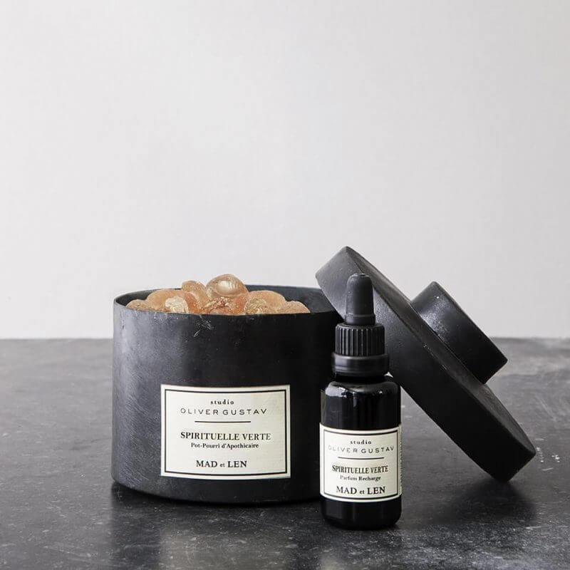 scented potpourri on resin stones spirituelle verte with oil refill from mad et len