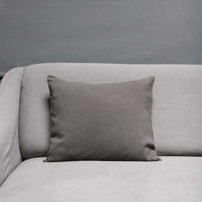 Linen cushion in pepe color from the italian brand Society Limonta