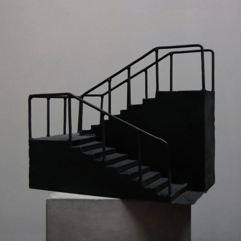 model of staircase in iron for interior design
