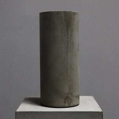 cylindrical vase made in concrete by dutch designer michael verheyden