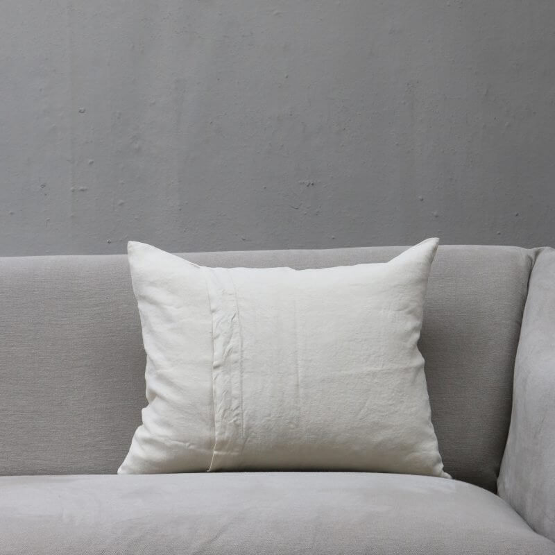 Cream pillow in linen by Society Limonta