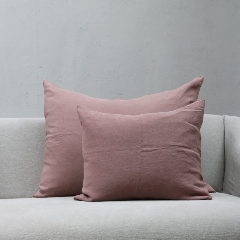 dusty rose Cushion pillow in high quality linen by Society Limonta