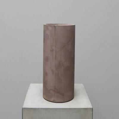 Michael Verheyden Warm Grey concrete vase at studio Oliver Gustav