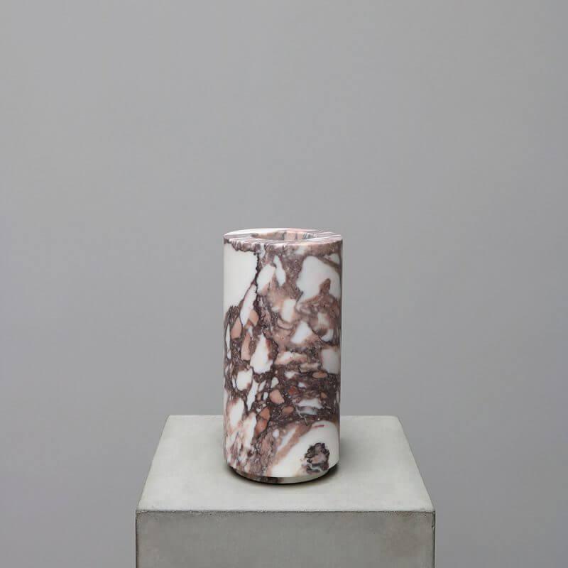 Michael Verheyden Vases in marble Calacatta Viola. Unique interior design