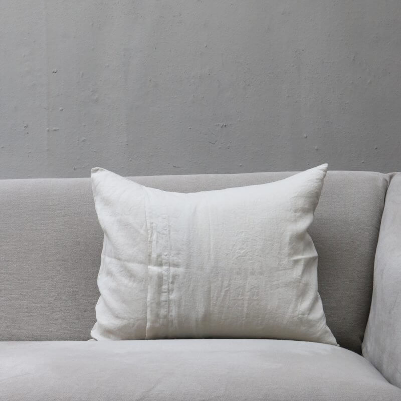 white Cushion pillow in high quality linen by Society Limonta