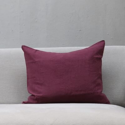 Red Cushion pillow in high quality linen by Society Limonta