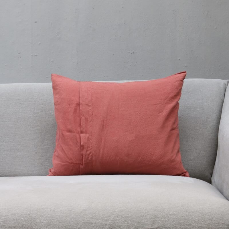 Raspberry bright pink pillow in linen by Society Limonta