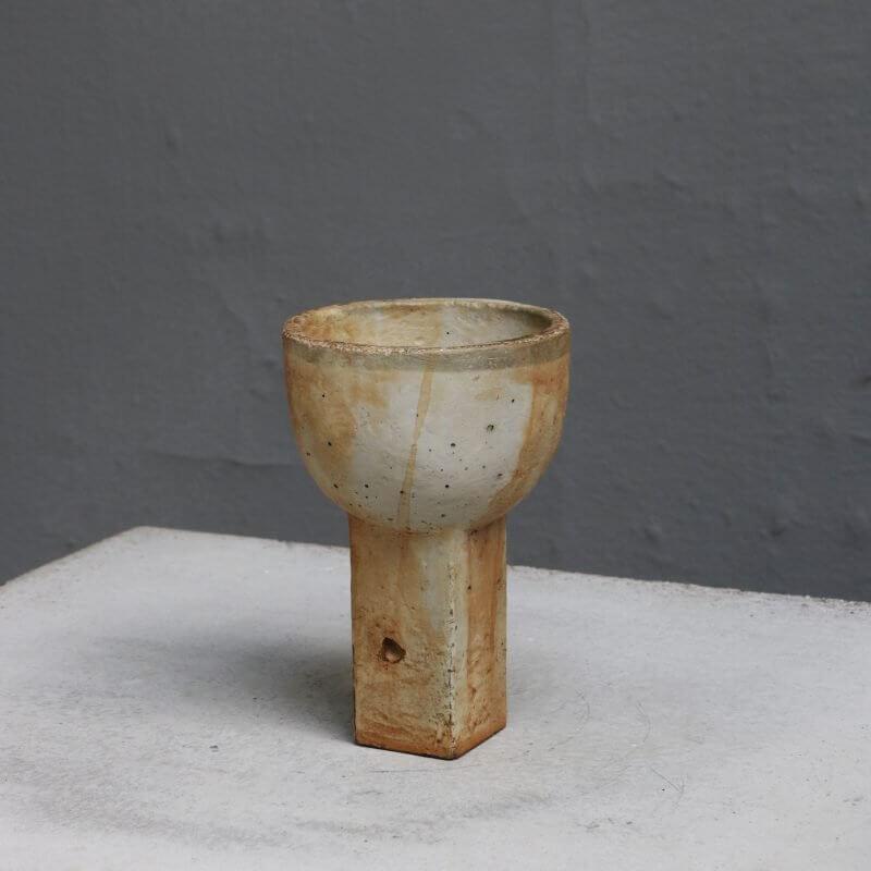 Vase mini sacra in rusty concrete by danish designer Sofie Østerby