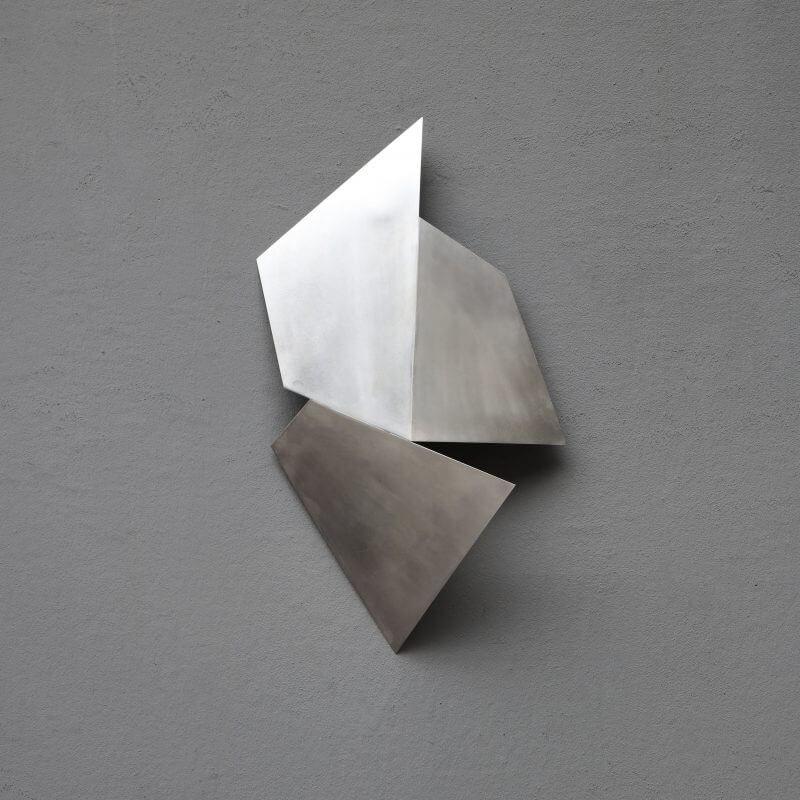 Unique art piece sculpture by Josefine Winding in silver plated brass
