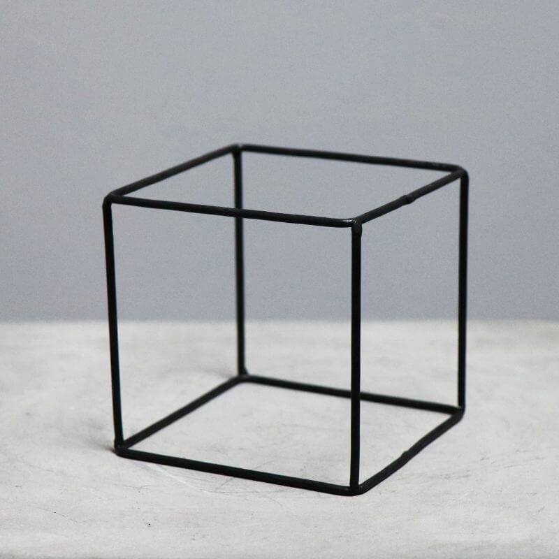 geometrical box in iron for decoration