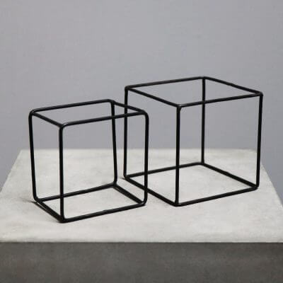 geometrical boxes in iron for decoration