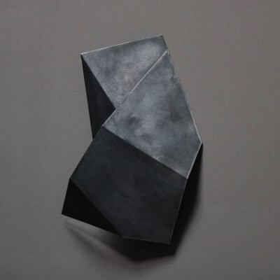 Unique sculpture in zinc by danish artist josefine winding