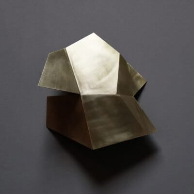 Unique sculpture in brass by danish artist Josefine Winding