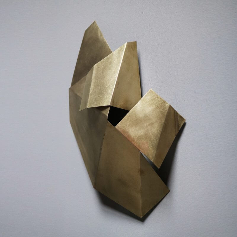 Unique sculpture in brass by the danish artist Josefine Winding