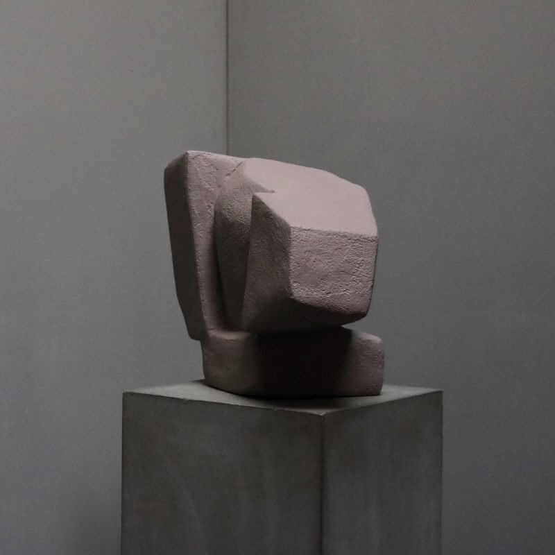 Unique sculpture in plaster in rose color by danish artist josefine winding