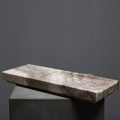 Unique tray in travertine by dutch designer michael verheyden