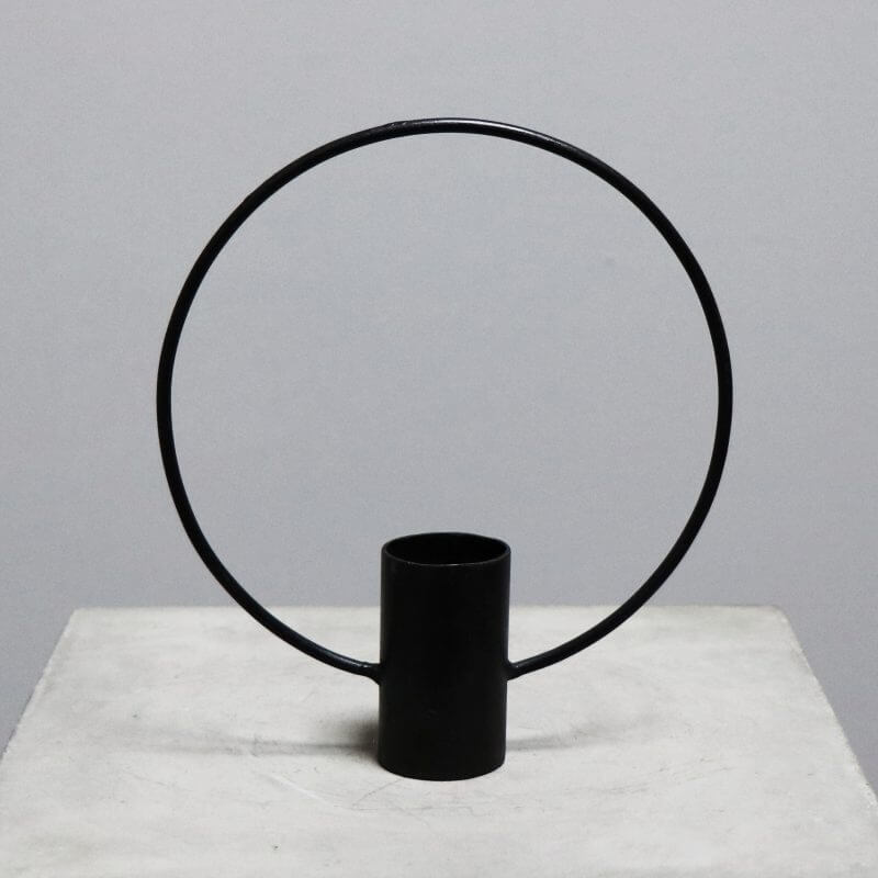 candle light holder with ring in iron