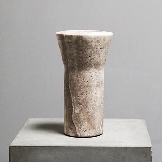 Y-Vase in Travertine by Michaël verheyden