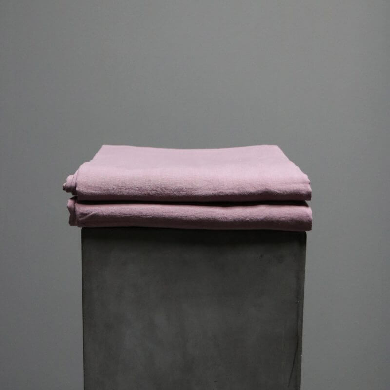 Bedsheet in linen from Society Limonta color mauve pink