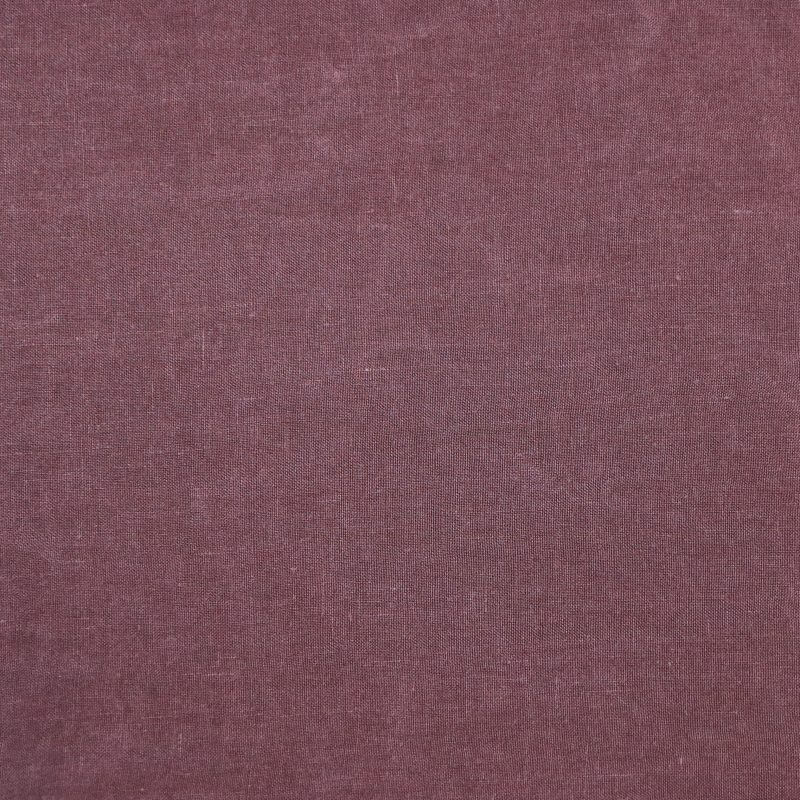 Bedsheet in linen from Society Limonta color berry dusty red
