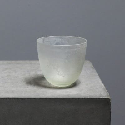 German Mouth-blown glass cup