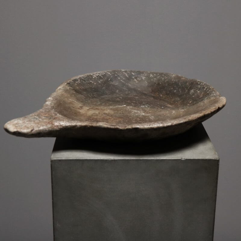 Unique stone bowl with handle