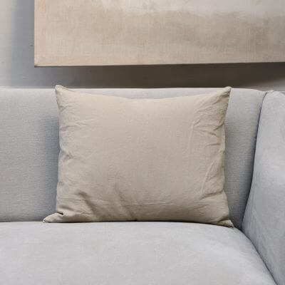Linen Society Cushion in Canapa