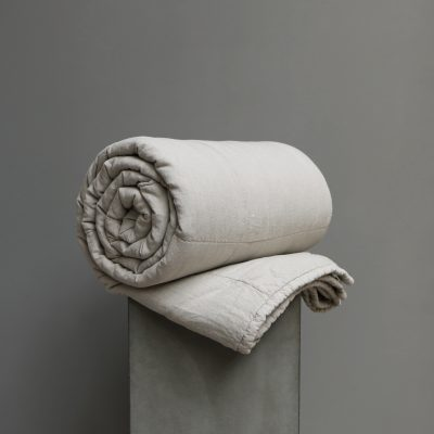 Quilted blanket high quality linen by Society Limonta at Studio Oliver Gustav