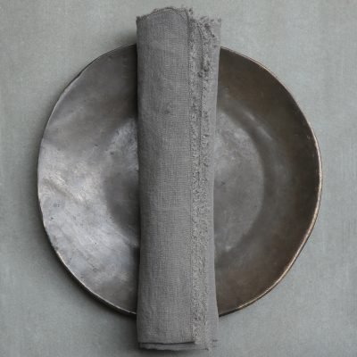Napkin high quality linen by Society Limonta at Studio Oliver Gustav. Dining room interior design