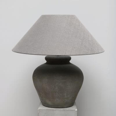 Terracotta lamp grey