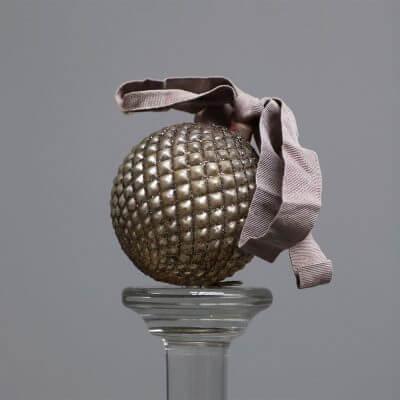 Glass ball pine cone unique christmas ornaments by studio Oliver Gustav