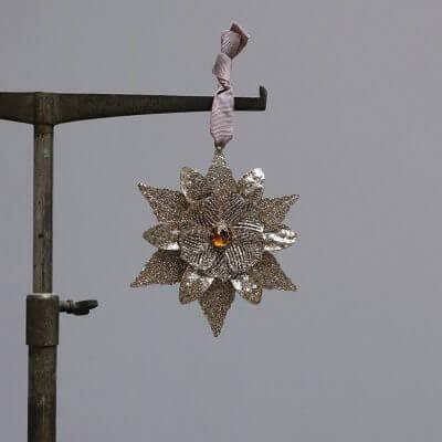 Glitter star christmas ornaments at studio oliver gustav