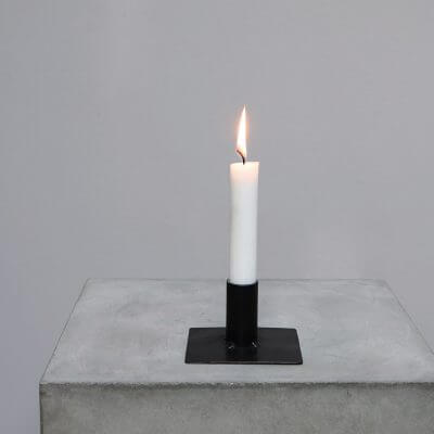 Iron candle holder square #2 minimalistic home decor