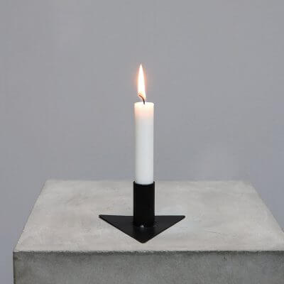 Black iron candleholder minimalistic home decor Iron Candle holder - Triangle #2