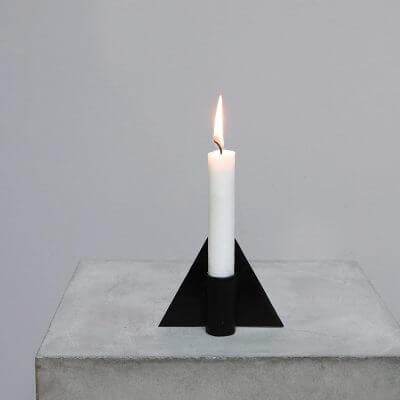Iron Candle holder - Triangle #1 minimalistic home decor