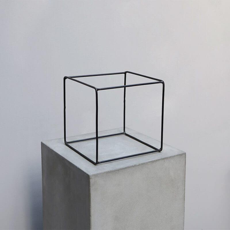 Iron square obejct for minimalistic home decoration
