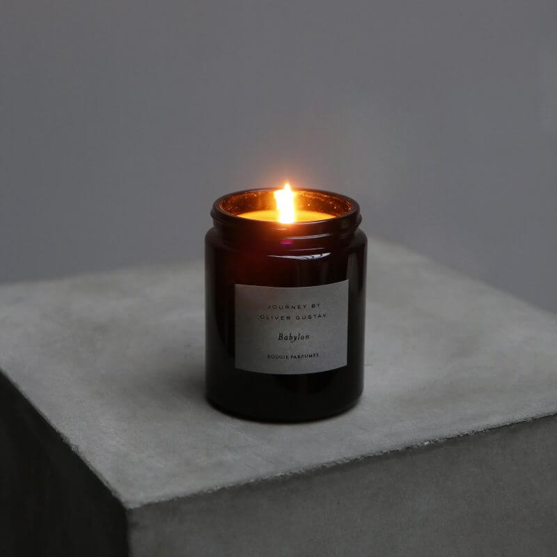 Luxury scented candle Babylon from Journey by Oliver Gustav