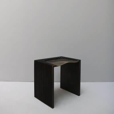 Limited edition stool by Jan Janssen in brass
