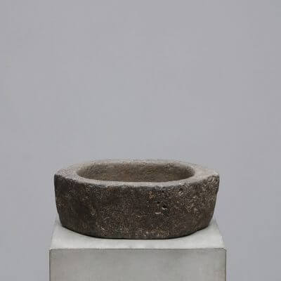 Unique Oval bowl carved from solid stone