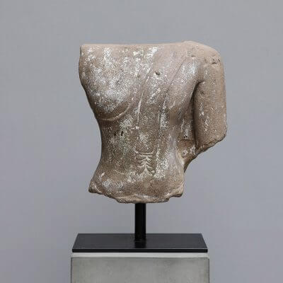 Khmer stone torso from the 18th century