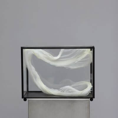 Sculpture in silk by the danish artist Ursula Nistrup and danish designer Lotte Henriksen