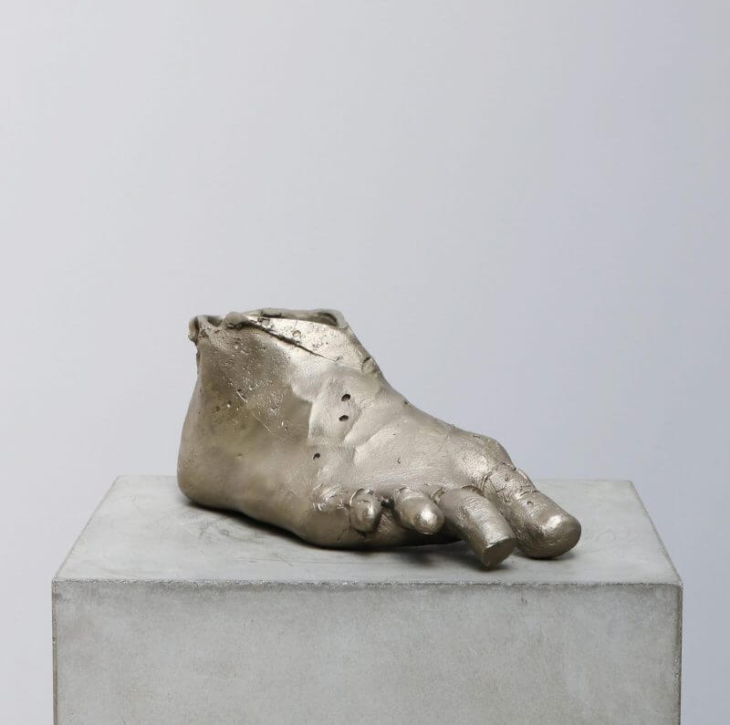 Silver and bronze sculpture by the danish artist kaare golles