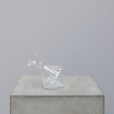 Titled glass vase with a twist look minimalisti scandinavian home decor