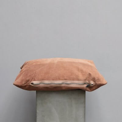 Limited edition high-quality apricot Suede Cushion - Large from Journey by Oliver Gustav
